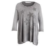 T-Shirt mit 3/4-Arm - grau