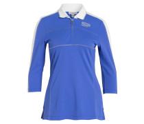 Poloshirt ESTHER - blau/ weiss