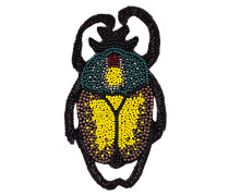Brosche - schwarz/ gelb/ grün