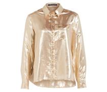 Bluse mit Seidenanteil - gold