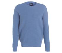 Pullover in Strukturstrick - hellblau