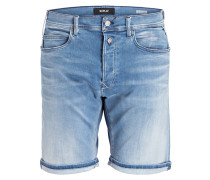 Jeans-Shorts HYPERFLEX Slim-Fit - blau