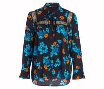Bluse CIRQUE - schwarz/ blau/ orange