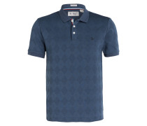 Jacquard-Poloshirt Slim-Fit - blau