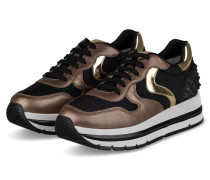 Plateau-Sneaker MARAN - HELLBRAUN/ SCHWARZ
