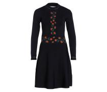 Kleid mit Stickerei - schwarz/ rot