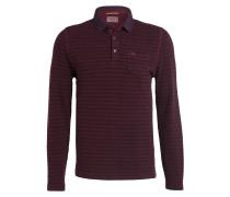 Piqué-Poloshirt - burgunder