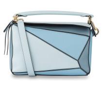 Handtasche PUZZLE - hellblau/ blau