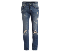 Destroyed-Jeans ROCCO Relaxed Skinny-Fit