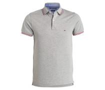 Piqué-Poloshirt Slim-Fit - grau