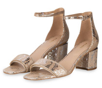 Sandaletten VALENTINA - BEIGE/ SILBER