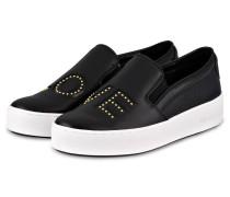 Slip-on-Sneaker - schwarz