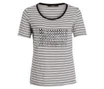 T-Shirt AMELIA - weiss/ schwarz gestreift