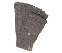 Handschuhe mit Kapuze - taupe