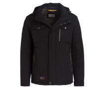 Jacke mit abnehmbarer Kapuze - schwarz