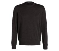 Schurwoll-Pullover - grau