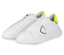 Sneaker TEMPLE - WEISS/ NEONGELB