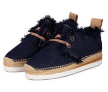 Plateau-Sneaker im Espadrilles-Stil