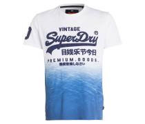 T-Shirt - weiss/ blau/ marine