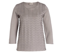 Pullover mit 3/4-Arm - grau