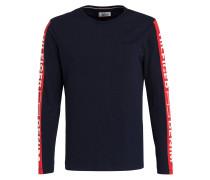 Langarmshirt - schwarz/ rot