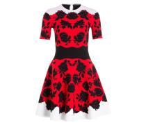 Kleid - schwarz/ ivory/ pink