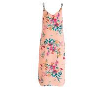 Kleid - lachs/ petrol/ pink
