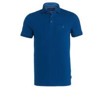 Piqué-Poloshirt CLAY - blau