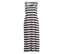 Kleid - schwarz/ hellgrau gestreift