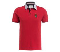 Jersey-Poloshirt - rot