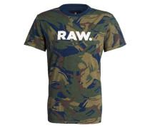 T-Shirt - oliv/ khaki/ blau
