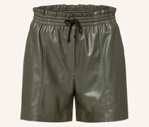 Paperbag-Shorts PAULETTE in Lederoptik