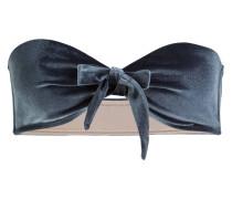Bandeau-Bikini-Top BLOSSOM - blaugrau