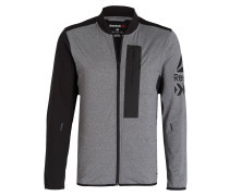 Trainingsjacke BRUSHED TRACK - grau