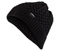 Grobstrick-Mütze LIAM - schwarz