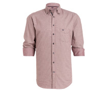 Hemd Casual-Fit - rot/ weiss