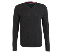 Lambswool-Pullover - anthrazit meliert