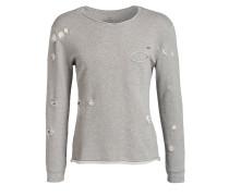 Destroyed-Sweatshirt - grau