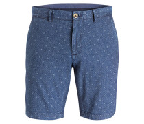 Chino-Shorts Classic-Fit - blau
