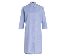 Hemdblusenkleid - weiss/ blau gestreift