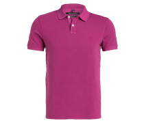 Piqué-Poloshirt Shaped-Fit - pflaume