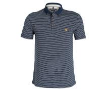 Jersey-Poloshirt Shaped-Fit - blau
