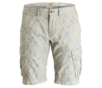 Cargo-Shorts Straight-Fit - beige/ blau