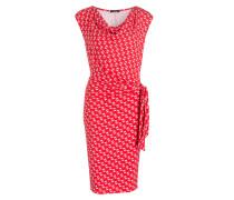 Kleid - rot/ ecru