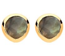 Ohrstecker - gold/ grau