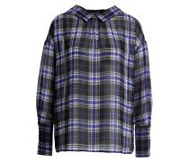 Bluse - schwarz/ grau/ blau kariert