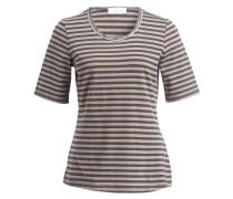 T-Shirt - taupe/ dunkelgrau gestreift