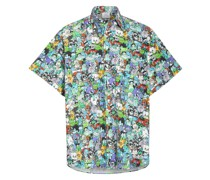 Oversized-Hemd aus Flanell