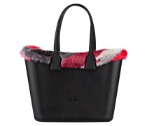 Shopper - schwarz/ rot/ grau