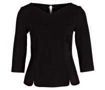 Bluse mit 3/4-Arm - schwarz